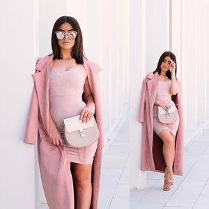Dresses & Skirts - Pink Suede Dress
